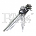 9PCS BALL POINT EXTRA LONG HEX L-WRENCH SET 7101-3A9