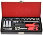 "''1/4""DR. 21PCS SOCKET SET